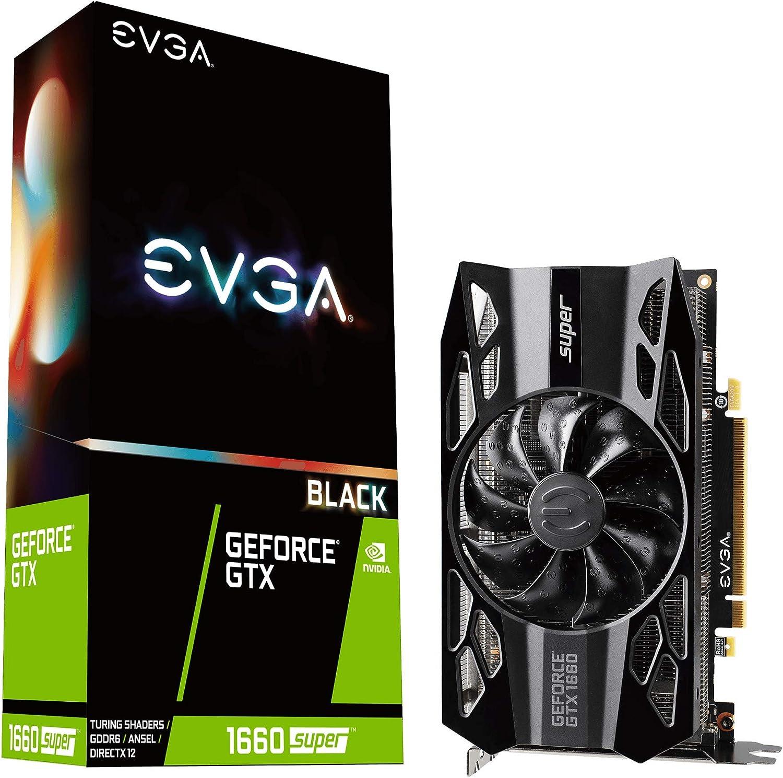 EVGA GeForce GTX 1660 Super Black Gaming, 06G-P4-1061-KR, 6GB GDDR6, Single Fan