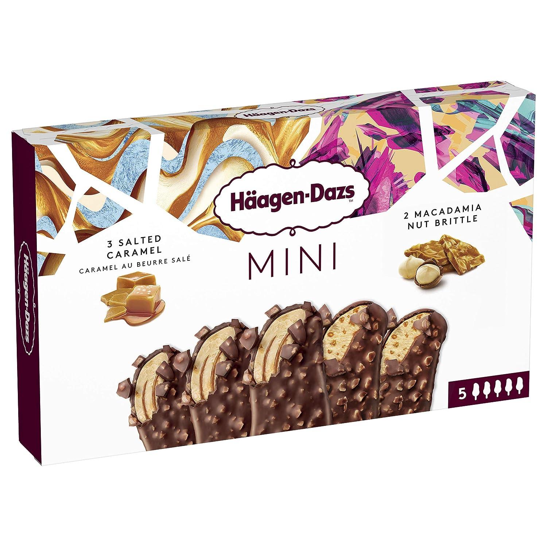 Häagen-Dazs Mini Bombones de Helado Salted Caramel y Macadamia Nut Brittle - Pack de 5 x 37 gr - Total: 185 gr: Amazon.es: Alimentación y bebidas