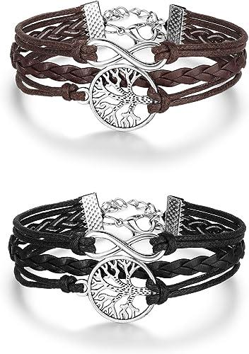 bracelet cuir cordon femme