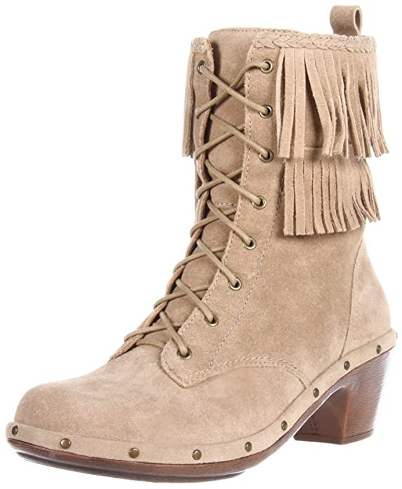 Fringed combat boot