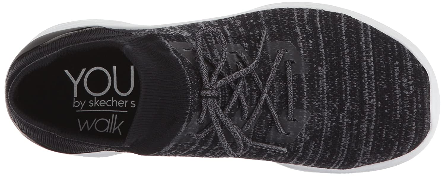 Skechers Women's You-14966 Sneaker B072N1Z4HR 5 B(M) US|Black/White