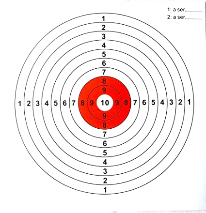 photograph relating to Printable Air Rifle Targets known as Air Rifle goals toward in shape 5.5 inch (140mm) Pellet Entice 100 Plans The greater part purple ring Plans