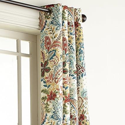 Pier 1 Imports Clara Floral Grommet Top 84quot Curtain Window Treatment