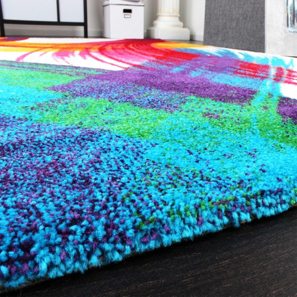 PHC Teppich Modern Bunt Teppich Splash Brush Leinwand Optik Creme Grün Blau  Rot Gelb, Grösse:80x150 Cm: Amazon.de: Küche U0026 Haushalt