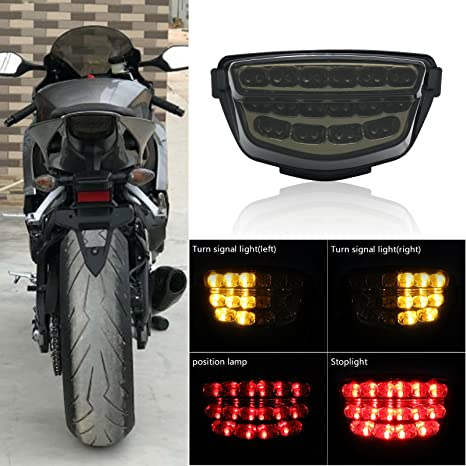 CLEAR INTERGRATED LED TURN SIGNALS REARLIGHT FOR 2008-2016 HONDA CBR1000RR SP