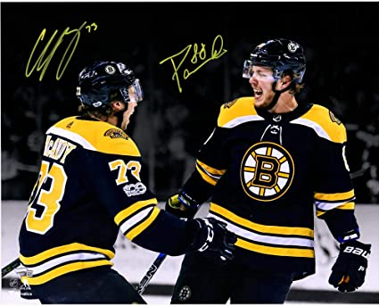 detailed look c8cad 20d17 Charlie McAvoy & David Pastrnak Boston Bruins Autographed 16 ...