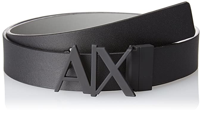 71c6c92c A|X Armani Exchange Men's Skinny Leather Logo Belt