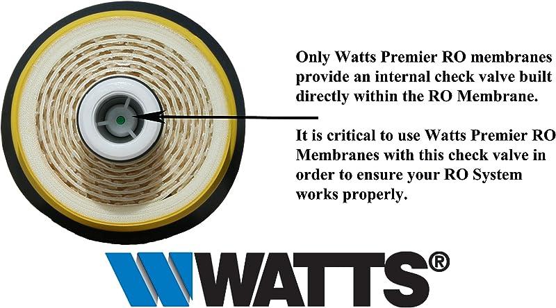Watts Premier 560018 50GPD RO Membrane with internal check valve