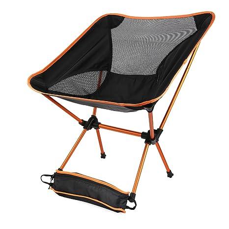 Sillas plegables ultraligeras para acampada con bolsa de ...