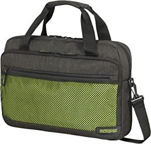 American Tourister Laptop Briefcases, Grey (Anthracite/Lime Green), L (44 cm - 13.5 L)