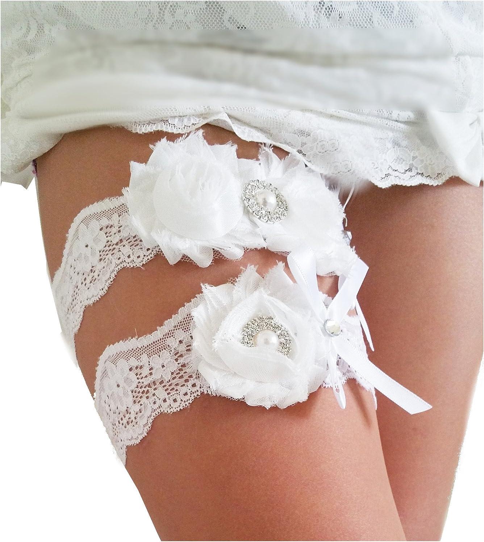 Toss Garter Light Gold   Beaded Lace Wedding Garter Set Ivory Lace Garter Set Keepsake Garter  GT-26