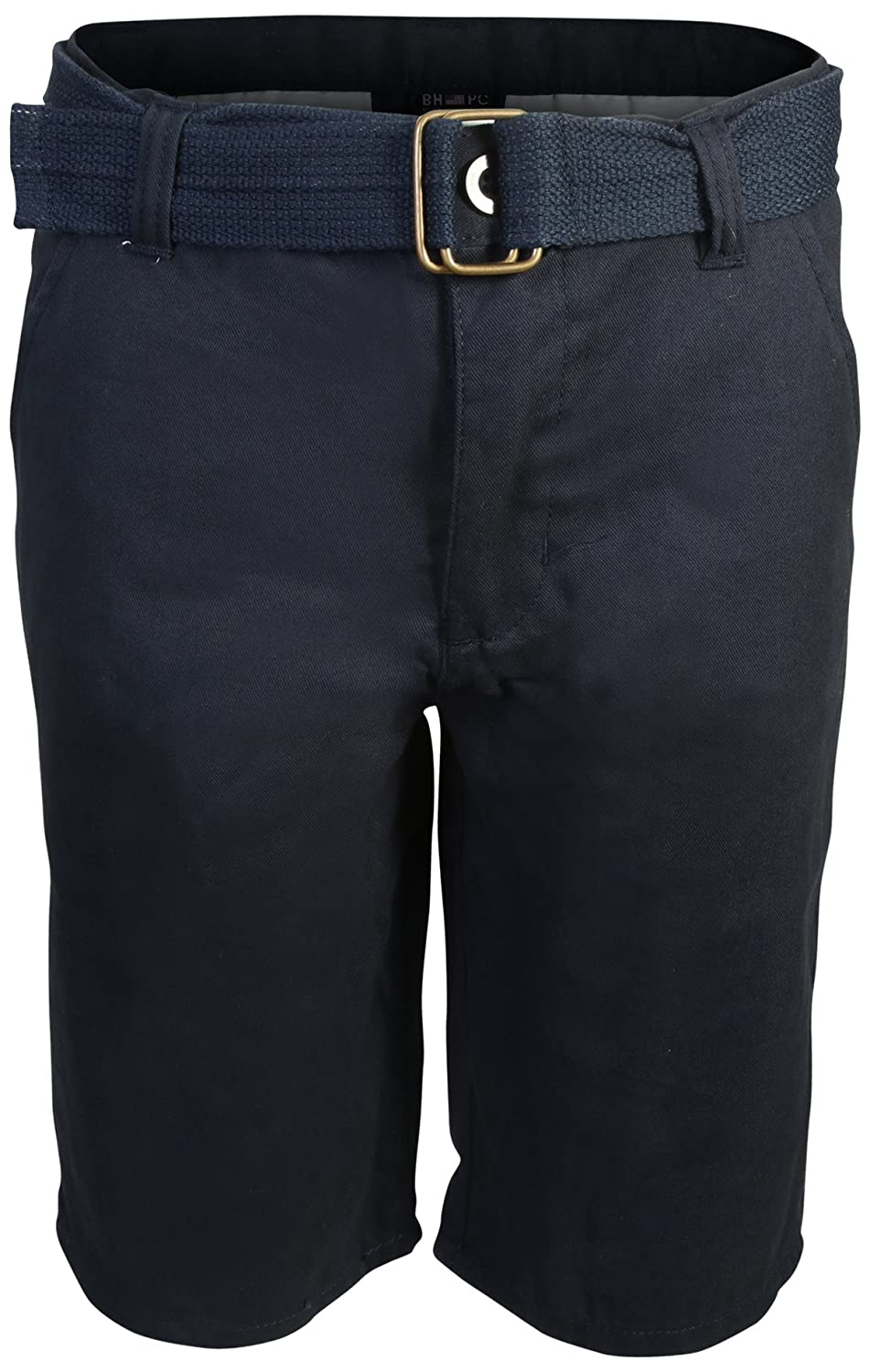 Beverly Hills Polo Club Boys School Uniform Belted Shorts