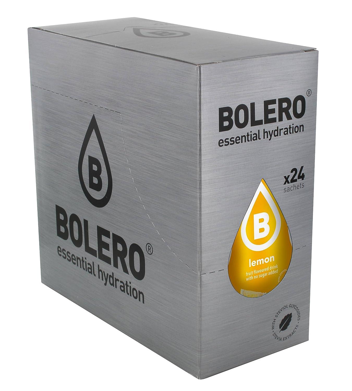 Bolero Bebida Instantánea sin Azúcar, Sabor Limón - Paquete de 24 ...