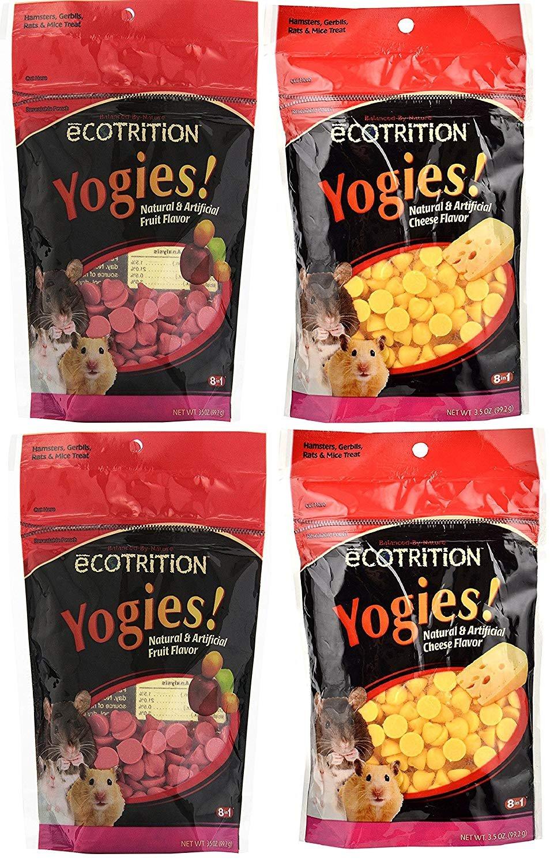 eCOTRITION Yogies Hamster/Gerbil/Rat Treats, Variety