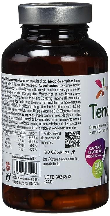 Mondonatural, Tendiplus Bisglicinato de Magnesio, Zinc y Complejo B, 90 Capsulas: Amazon.es: Salud y cuidado personal