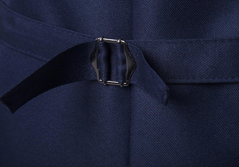 JOLIME Elegante Gilet da Uomo Scollo a V Alla Moda Matrimonio Casual Commerciale Corpetto