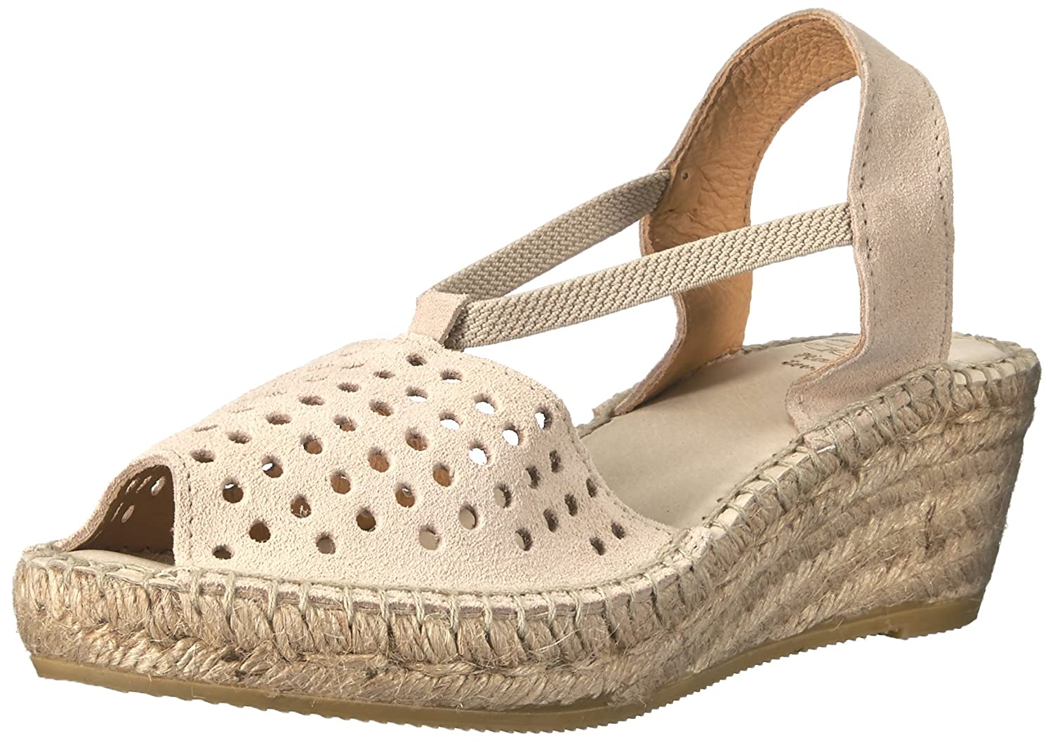 Andre Assous Women's Corrine Espadrille Wedge Sandal B01G5YJR3A 40 M EU|Taupe Suede
