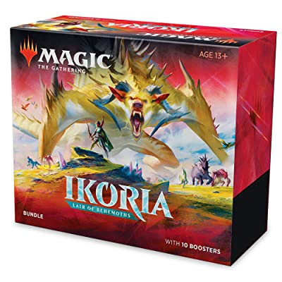 Magic: The Gathering Ikoria: Lair of Behemoths Bundle | 10 Booster Packs (150 Cards) | Foil Lands | Accessories: Toys & Games