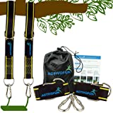 ActivoFun Tree Swing Straps Hanging Kit 10ft - 2 Long Adjustable Strap & Heavy Duty Locking Carabiner, Holds 2400 Lbs…