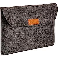AmazonBasics 11-Inch Felt Laptop Sleeve - Charcoal