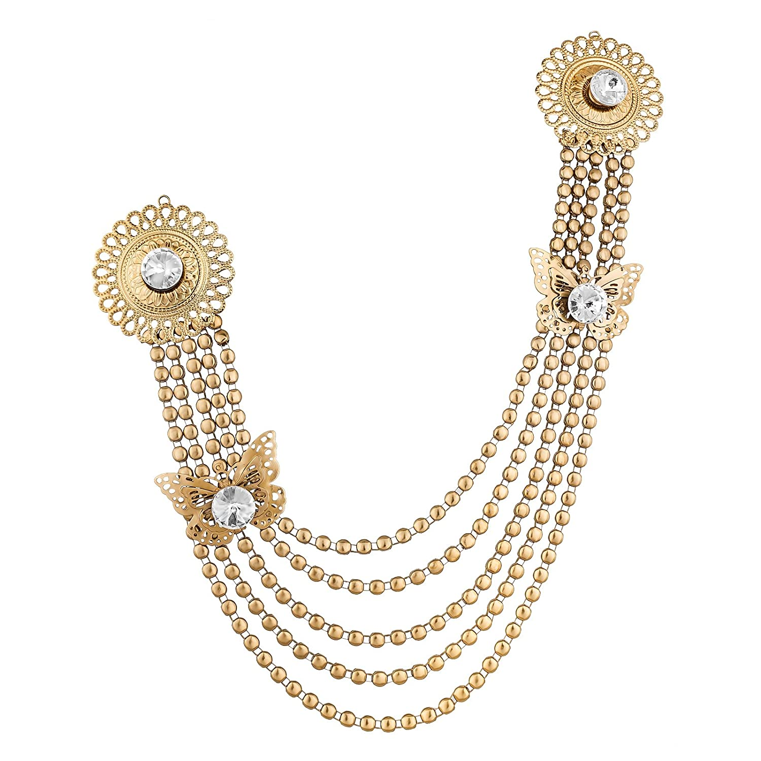 zivarish plate gold product brooch chenar jewellery