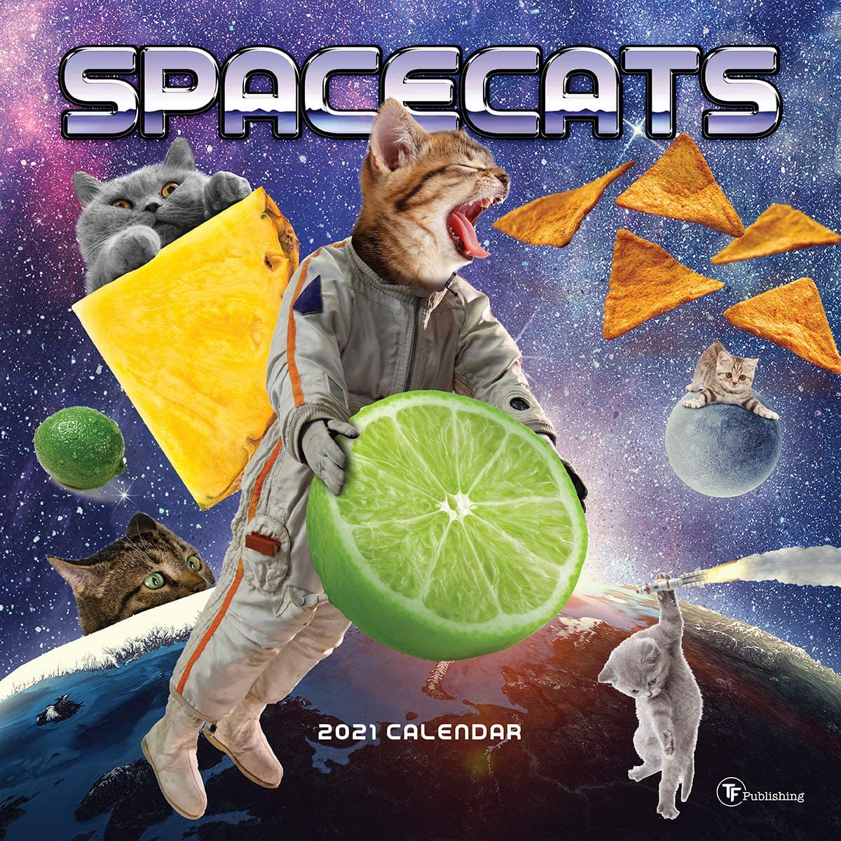 TF Publishing, 2021 Space Cats Wall Calendar