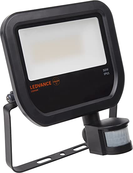 LEDVANCE Floodlight LED Sensor 50 W Negro A - Proyectores (50 W ...