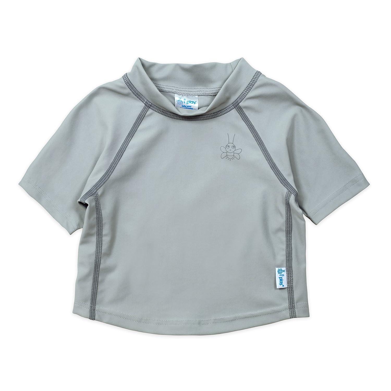 i play. 770100, Camiseta de Manga Corta Para Niños, gris, 6-12 Meses 706301