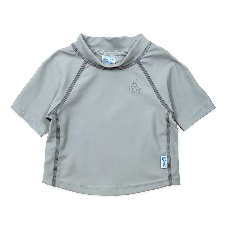 i play. Baby Short Sleeve Rashguard Shirt