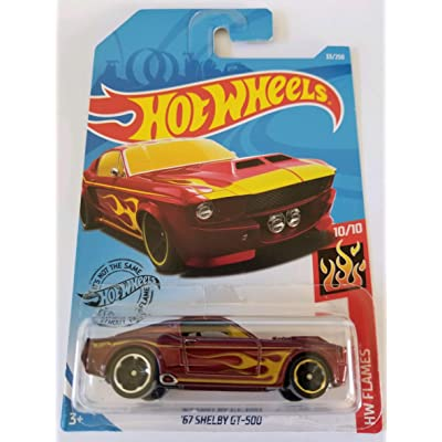 Hot Wheels 2020 Hw Flames '67 Shelby GT-500, 33/250 Red: Toys & Games