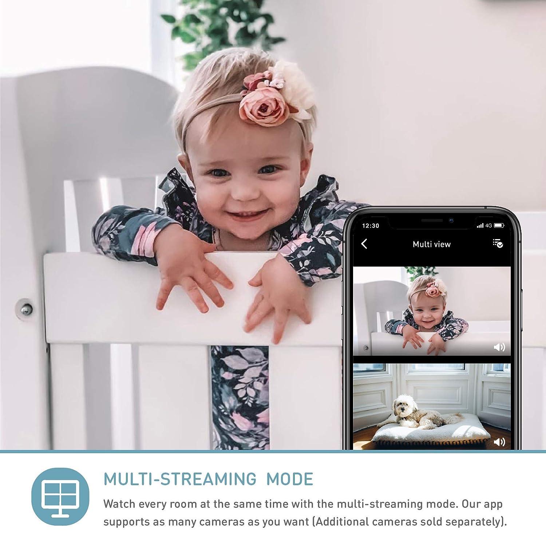 unterst/ützt 2 Kameras//Nachtsicht//Ger/äusch- und Schreierkennung//2-Wege-Kommuinikation Wandmontage pistazie HD-WLAN-Baby//Haustier-/Überwachungskamera Lollipop camera