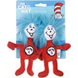 Dr. Seuss The Cat in The Hat 3 Piece Cat Toys with Catnip Inside  Cat Feather Toys from Dr. Seuss Collection   Feather Cat To