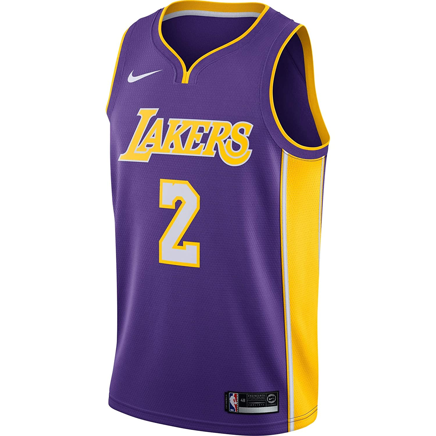 Amazon.com   NIKE Lonzo Ball Los Angeles Lakers Icon Edition Purple Jersey  - Men s Large   Sports   Outdoors 2ea9f3290