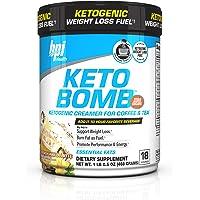 BPI Sports Keto Bomb Ketogenic Creamer for Coffee and Tea, French Vanilla Latte, 18 Count