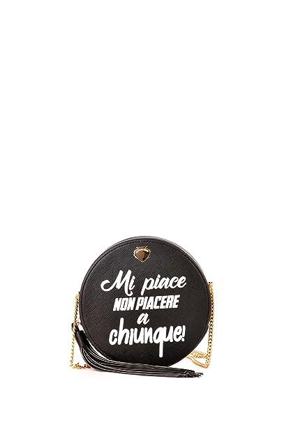 82023e5c72 LE PANDORINE Borsa rotonda donna, Smiley Sorriso, PE18DAE02164 06, diametro  19 cm: Amazon.it: Abbigliamento