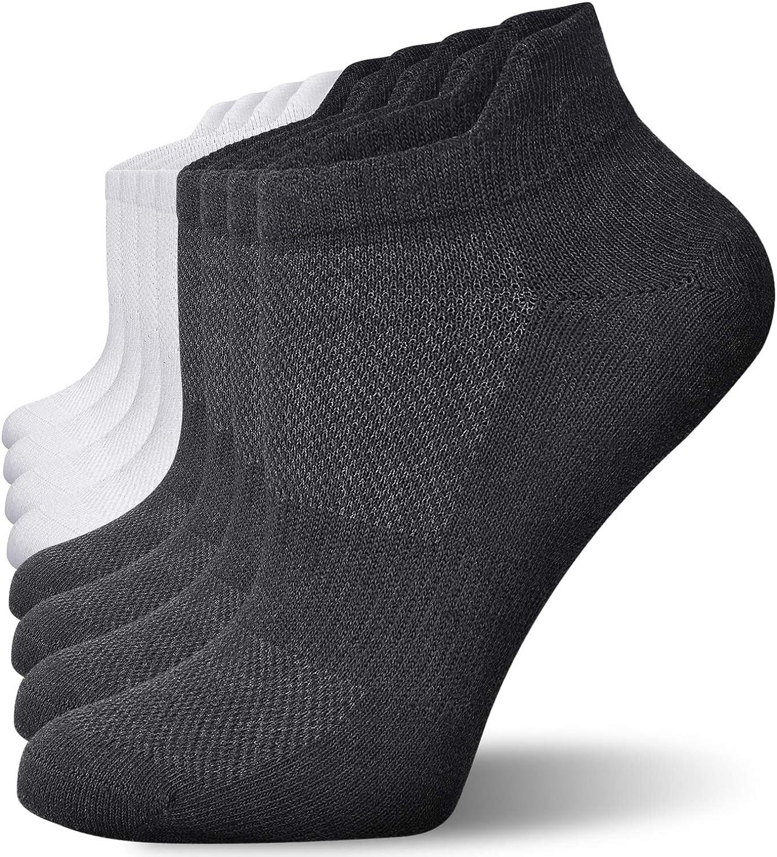 Okany Calcetines Running de Corte Bajo de Algod/ón Hombres y Mujeres Unisex Deportivos Corto Transpirable Antideslizantes Calcetin 8 Pares