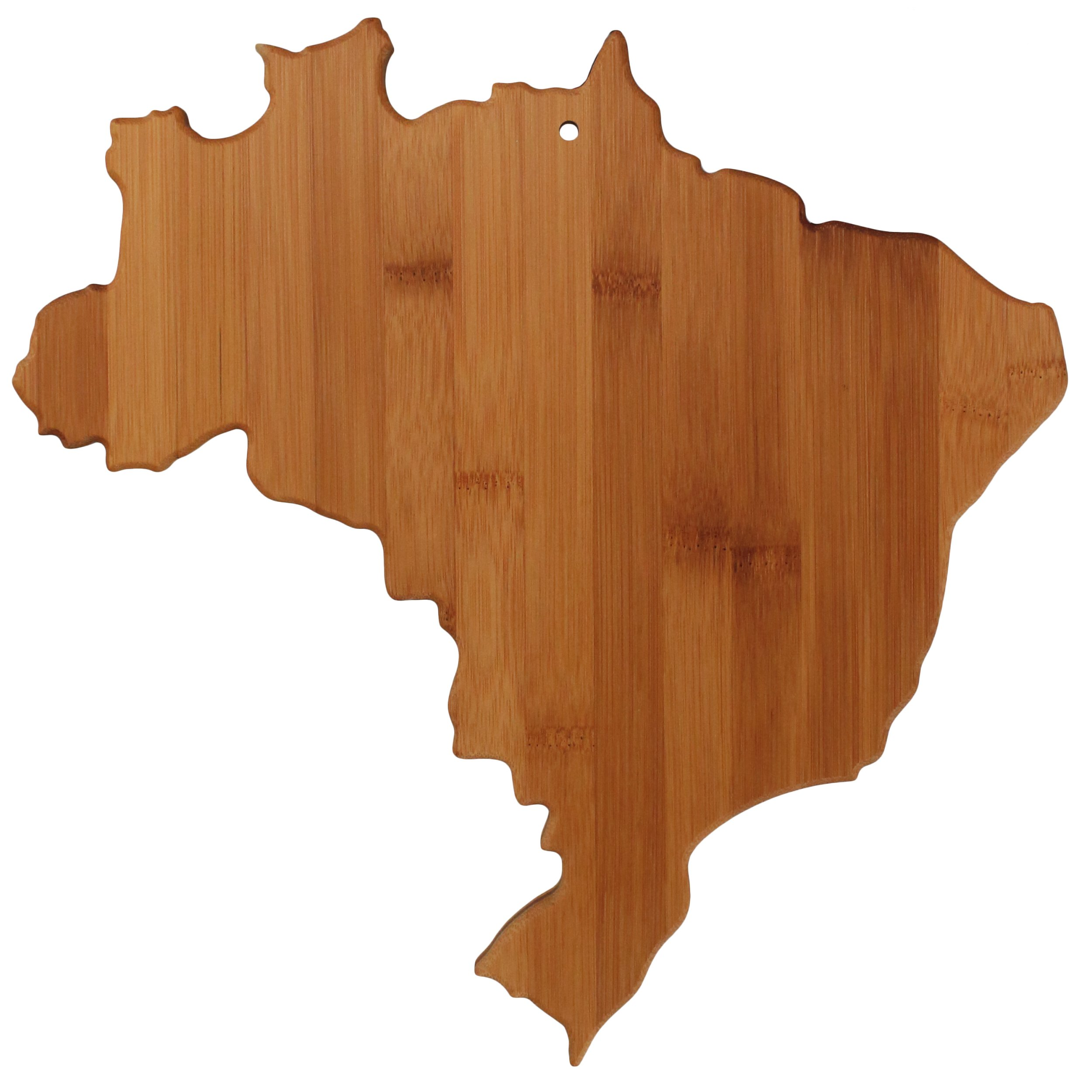 Totally Bamboo Brazil Shaped Bamboo Serving and Cutting Board