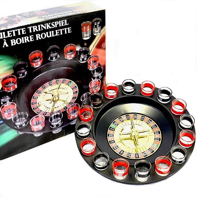 Toys4Boys Juego Chupitos Ruleta, Drinking Roulette Set, Ruleta con Vasos de chupito, 16 Vasos: Amazon.es: Juguetes y juegos