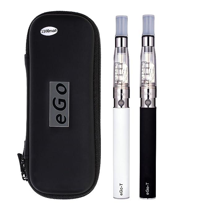 WOLFTEETH Paquete de 2 paquetes de E cigarrillos CE4 + 10ml de sabor natural de menta Vape líquido | Batería recargable 1100 mAh | CE4 Atomizador líquido ...