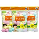 Tulips Cotton Balls (50 Pieces) - Pack of 3