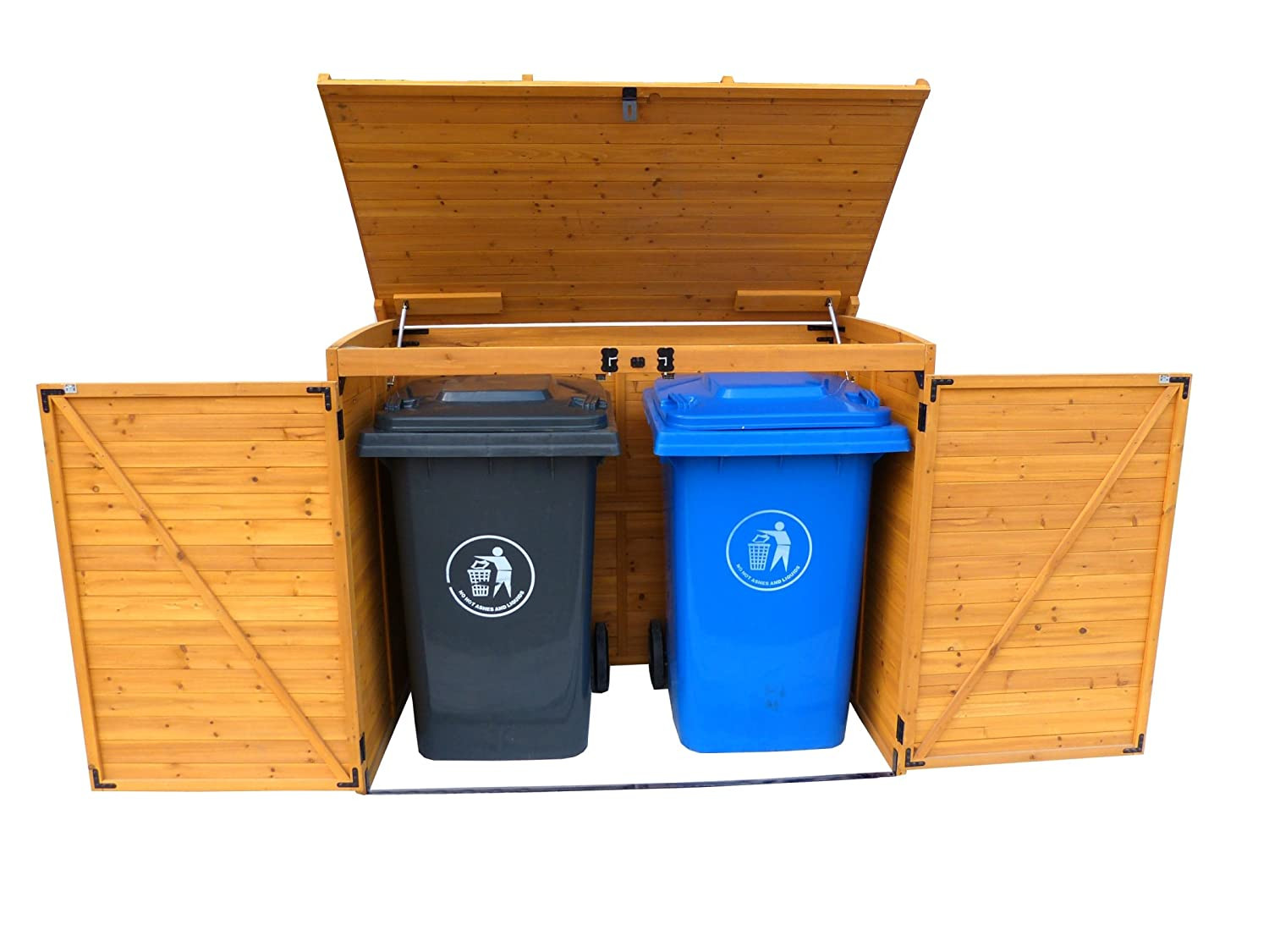 Attractive Garbage Storage #8 - Amazon.com : Leisure Season Large Horizontal Refuse Storage Shed : Garden U0026  Outdoor