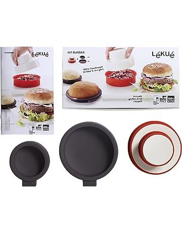 Lékué - Moldes para pan de hamburguesa pequeños, 4 unidades