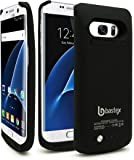 Galaxy S7 Edge Battery case, Bastex Rechargeable High Capacity Battery Charging Power,Hard Black Plastic Protective Shell, 5200mAh, Slim-Fit Rugged Design with kickstand for Samsung Galaxy S7 Edge.