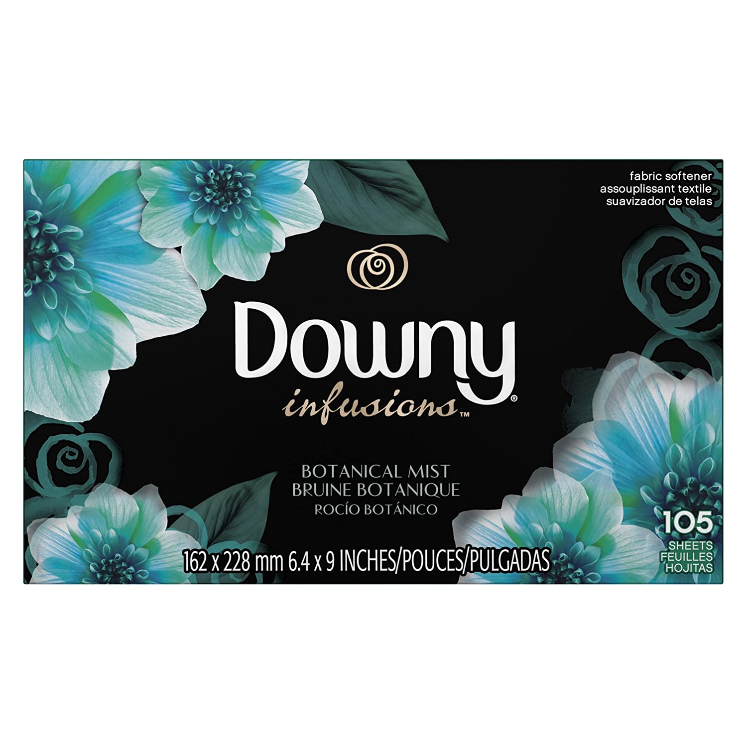 Amazon.com: Ultra Downy Infusions Botanical Mist Fabric Softener Sheets 105 Count: Prime Pantry