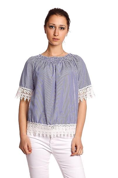 Abbino 4155 Blusa Top Con Paño para Mujer - Hecho en ITALIA - 2 Colores -