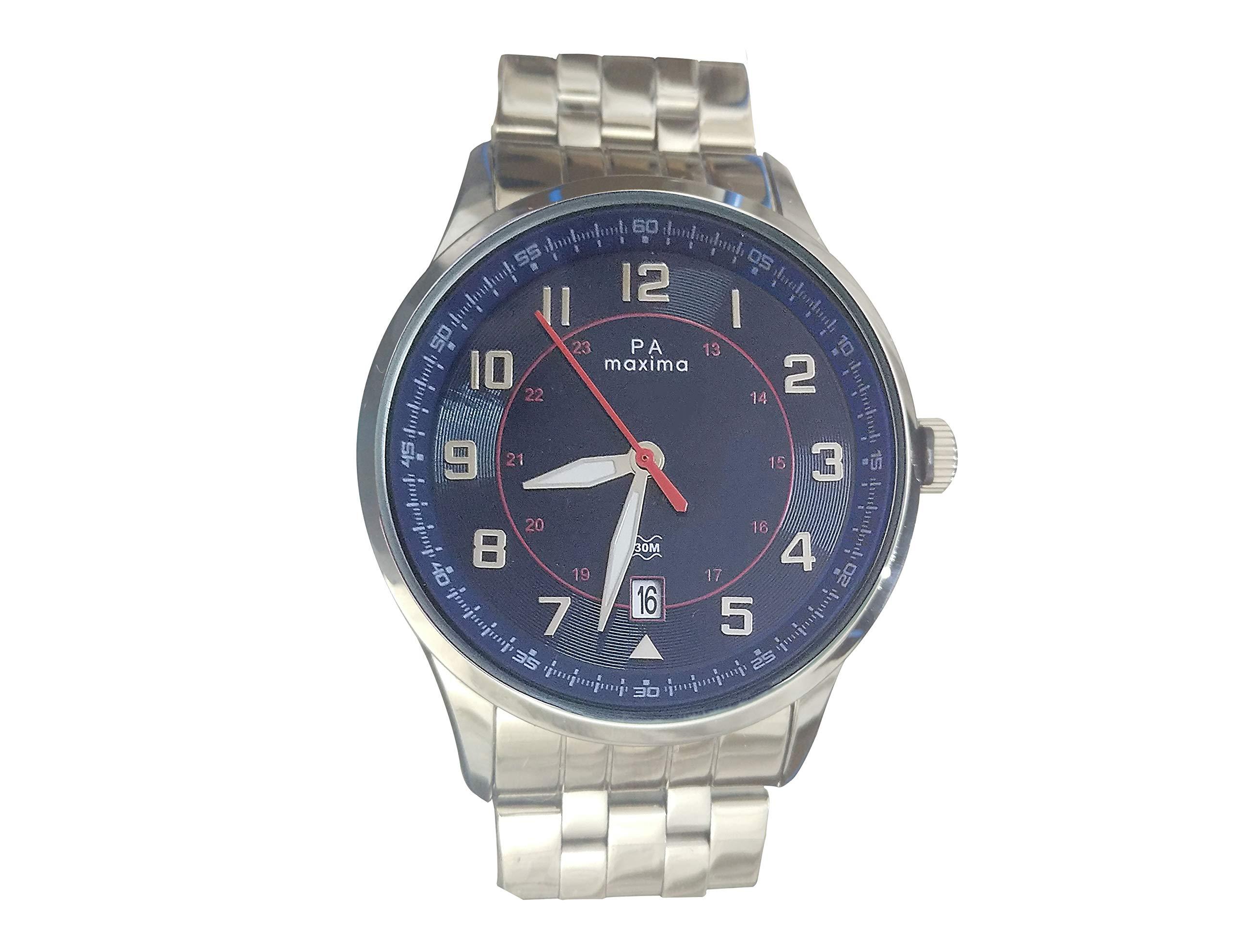 Maxima Analog Blue Dial Men's Watch-51880CAGI (B07P61G2XB) Amazon Price History, Amazon Price Tracker