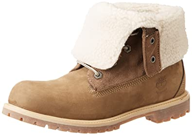 Timberland Authentics Teddy Fleece WP Fold Down Ankle Boots Color Beige  Women