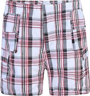LotMart Bambini Quadri Multitasche Shorts Bambini Leggero Corto Cargo Pantaloni