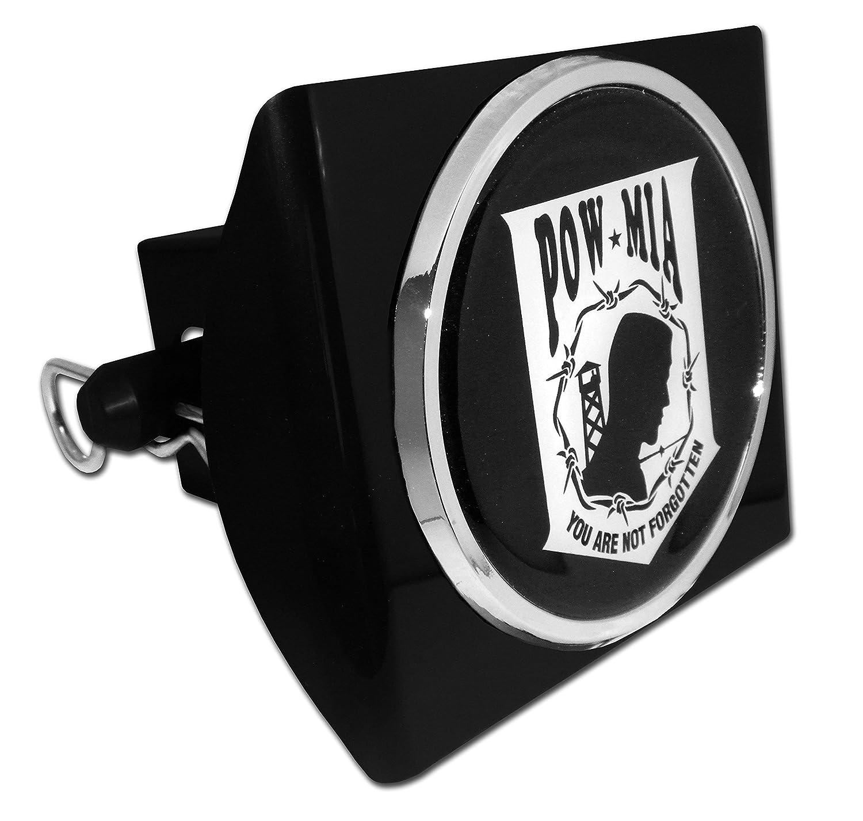 Elektroplate POW MIA You are Not Forgotten Black Metal Hitch Cover POW-BLK-HRC