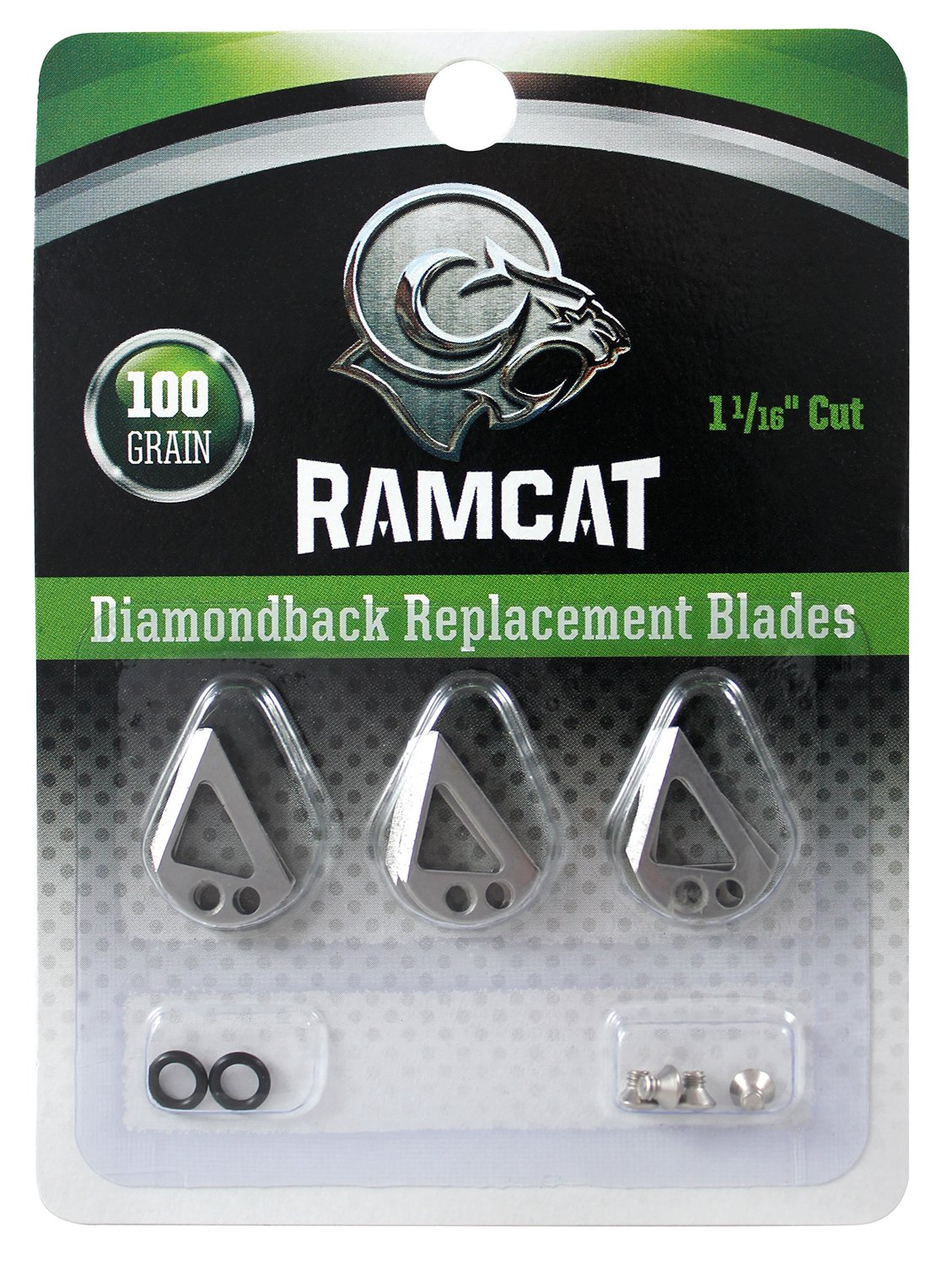 Ramcat Diamondback Broadheads Replacement Blades 100 gr. 9 Pk., Silver